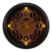 La Crosse Clock 18 Inch IN/OUT Analog Lighted Dial Wall Clock in Antique Nickel finish (403-3246)
