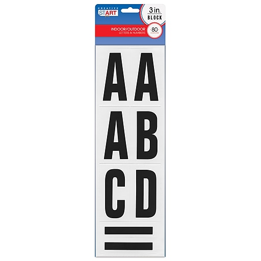 "Cosco® Self-Adhesive 3""H Letters, Numbers, And Characters"