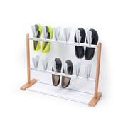 INNOKA 12 Pairs Modern Stylish Pop on Space Saving Shoes Rack Holder Stand Storage Organizer - Wooden/Silver