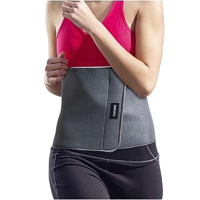 INNOKA Fat Burning Waist Trimmer Gym Running Exercise Wrap Belt Shapewear Sweat Weight Loss Body Shaper - Grey