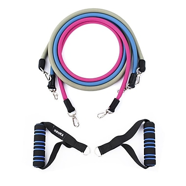 INNOKA Multi-Functional Adjustable Resistance Tube Band Set Anti-Snap for Exercise Fitness Yoga Workout(2361570)