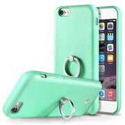 Cobble Pro 360? Rotation Ring Stand Grip Holder Leather Back Protective Case for Apple iPhone 6 / 6s - Green