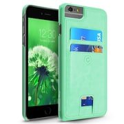 Cobble Pro Turquosie Rear Leather Case Wallet Card Holder (with Raised Lip Protection) for iPhone 6s Plus / 6 Plus