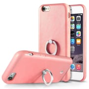 Cobble Pro 360? Rotation Ring Stand Grip Holder Leather Back Protective Case for Apple iPhone 6 / 6s - Pink