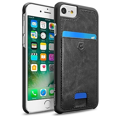 Cobble Pro Black Rear Leather Card Slot Shell Case for Apple iPhone 7 / 6 / 6s(2276376)