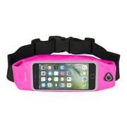 """Insten Waterproof Running Belt Waist Pouch Bag w/Touchscreen Window for iPhone 7 Universal (Size: 6.02"""" x 3.35"""") - Pink"""