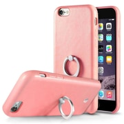 Cobble Pro 360? Rotation Ring Stand Grip Holder Leather Back Case for Apple iPhone 6s Plus / 6 Plus - Pink