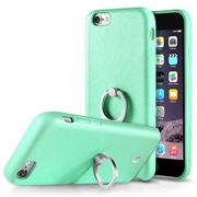Cobble Pro 360? Rotation Ring Stand Grip Holder Leather Back Case for Apple iPhone 6s Plus / 6 Plus - Green