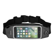 "Insten Waterproof Running Belt Waist Bag w/Touchscreen Window for iPhone 7 Plus Universal (Size: 6.5"" x 3.42"") - Black"