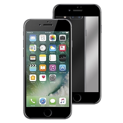 Insten Mirror 9H Hardness Tempered Glass 3D Full Coverage Screen Protector Film Guard for Apple iPhone 7 Plus - Black
