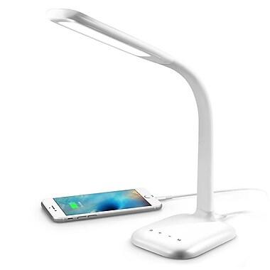 INNOKA Flexible Gooseneck USB High Bright Touch LED Panel Lamp, White(2353631)