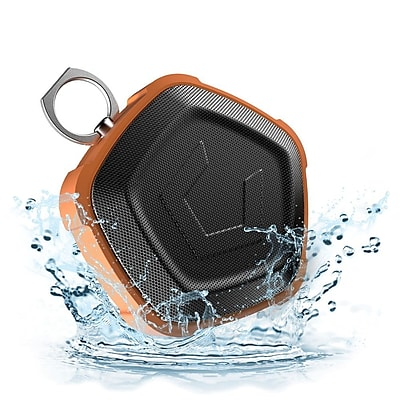 Cobble Pro Pentagon NFC Wireless 4.2 Bluetooth Speaker with 7W Strong RMS, IP67 Waterproof and Shockproof, Orange