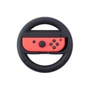 Insten For Nintendo Switch Joy-Con Protective Racing Steering Wheel Controller Wear Resistant Handle Grip - Black