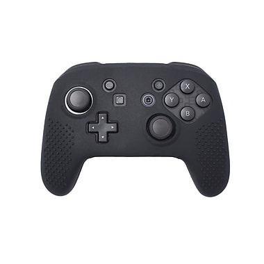 Insten® Soft Silicone Protective Case Cover Skin For Nintendo Switch Pro Controller Grip, Black(2363347)