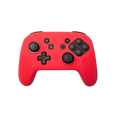 Insten® Soft Silicone Protective Case Cover Skin For Nintendo Switch Pro Controller Grip, Red(2363348)