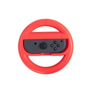 Insten For Nintendo Switch Joy-Con Protective Racing Steering Wheel Controller Wear Resistant Handle Grip - Red
