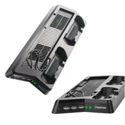Insten Dual Controller Charging Station Stand with Cooling Fans For Sony PS4 Pro PlayStation 4 Pro - Black