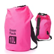 Zodaca 10L Waterproof Outdoor Adventure Dry Bag Backpack for Kayaking Boating Floating Swimming Camping Sports - Pink