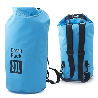 Zodaca 20L Waterproof Outdoor Adventure Dry Bag Backpack for Kayaking Boating Floating Swimming Camping Sports