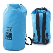 Zodaca 20L Waterproof Outdoor Adventure Dry Bag Backpack for Kayaking Boating Floating Swimming Camping Sports - Blue