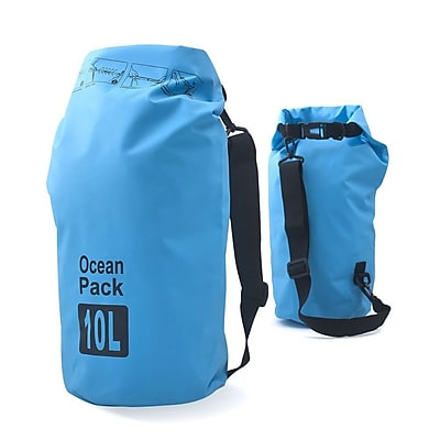 Zodaca 10L Waterproof Outdoor Adventure Dry Bag Backpack for Kayaking Boating Floating Swimming Camping Sports - Blue