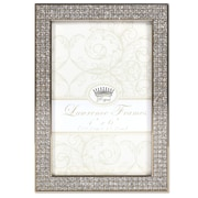 """Lawrence Frames 4""""W x 6""""H Turner Gold and Glitter Metal Picture Frame (702446)"""
