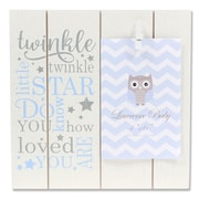 "Lawrence Frames 4""W x 6""H Distressed White and Blue Wood Frame - Twinkle Twinkle (377146)"