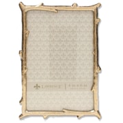"""Lawrence Frames 4""""W x 6""""H Gold Metal Picture Frame with Natural Branch Design (712546)"""