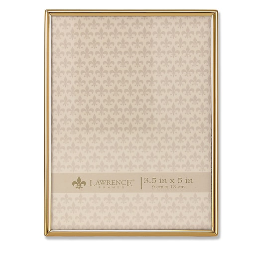 Lawrence Frames 3.5x5 Simply Gold Metal Picture Frame (670035) | Staples