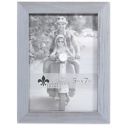 """Lawrence Frames 5""""W x 7""""H Charlotte Weathered Gray Wood Picture Frame (745657)"""