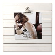 """Lawrence Frames 9""""W x 9""""H Weathered White Woodlands Clip Picture Frame - Holds Up to 5""""W x 7""""H Photo (741199)"""