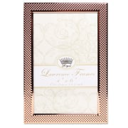 """Lawrence Frames 4""""W x 6""""H Fawn Pin Dot Pattern Copper Picture Frame (702546)"""