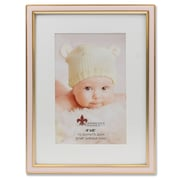 "Lawrence Frames 4""W x 6""H Matted Pink Enamel and Satin Gold Metal Picture Frame - 6x8 Without Mat (648146)"