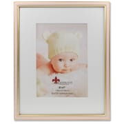 "Lawrence Frames 5""W x 7""H Matted Pink Enamel and Satin Gold Metal Picture Frame - 8""W x 10""H Without Mat (648157)"