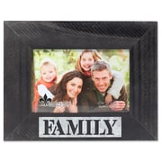"""Lawrence Frames 4""""W x 6""""H Harper Wood Picture Frame with Galvanized Metal Piercing - Family (709064)"""