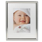"Lawrence Frames 5""W x 7""H Matted Gray Enamel and Silver Metal Picture Frame - 8""W x 10""H Without Mat (648057)"