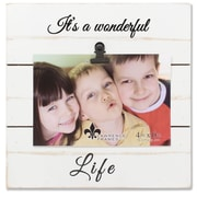 """Lawrence Frames 4""""W x 6""""H Weathered White Woodlands Clip Picture Frame - Wonderful Life (742264)"""