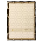"""Lawrence Frames 5""""W x 7""""H Gold Metal Picture Frame with Bamboo Design (712257)"""
