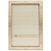 """Lawrence Frames 4""""W x 6""""H Gold Metal Picture Frame with Linen Pattern (712346)"""