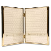 "Lawrence Frames 5""W x 7""H Hinged Double Simply Gold Metal Picture Frame (670057D)"