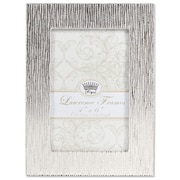 """Lawrence Frames 4""""W x 6""""H Princess Beads Satin Silver Metal Picture Frame (703046)"""
