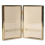 "Lawrence Frames 4""W x 6""H Hinged Double Simply Gold Metal Picture Frame (670046D)"