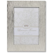 """Lawrence Frames 5""""W x 7""""H Princess Beads Satin Silver Metal Picture Frame (703057)"""