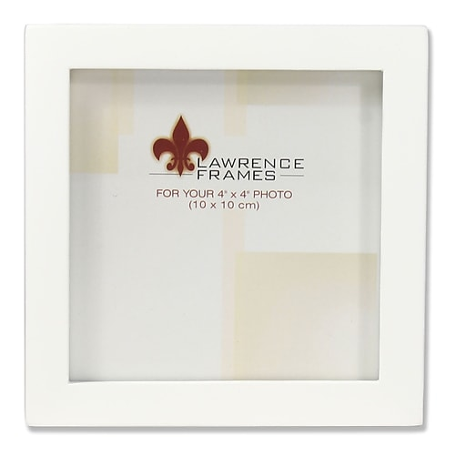Lawrence Frames 4x4 White Wood Picture Frame - Gallery Collection ...