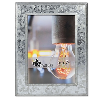 "Lawrence Frames 5""W x 7""H Clarra Galvanized Metal Picture Frame (707057)"