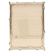 """Lawrence Frames 5""""W x 7""""H Gold Metal Picture Frame with Natural Branch Design (712557)"""