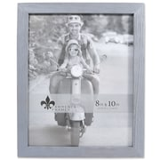"""Lawrence Frames 8""""W x 10""""H Charlotte Weathered Gray Wood Picture Frame (745680)"""