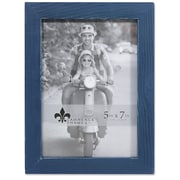 "Lawrence Frames 5""W x 7""H Charlotte Weathered Navy Blue Wood Picture Frame (745757)"