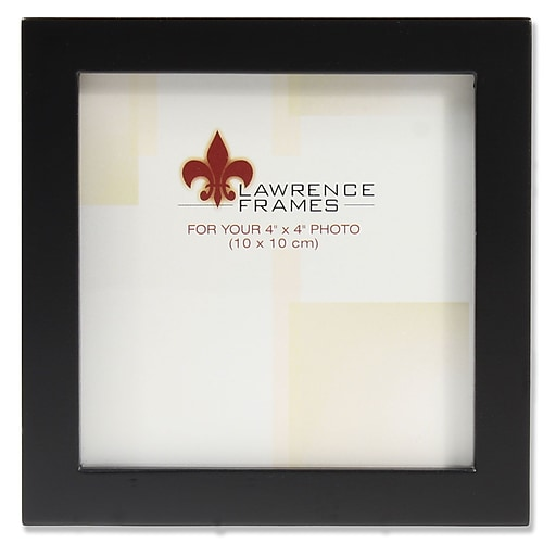 Lawrence Frames 4x4 Black Wood Picture Frame Gallery Collection
