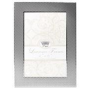 "Lawrence Frames 4""W x 6""H Fawn Pin Dot Pattern Silver Metal Picture Frame (702846)"